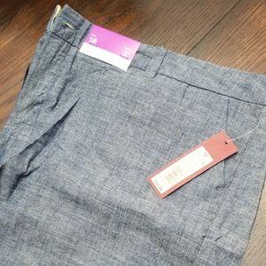 NWT Merona light jean shorts